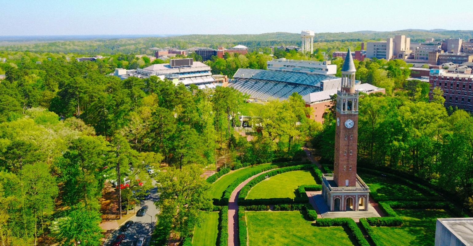 Aerial view of Chapel Hill